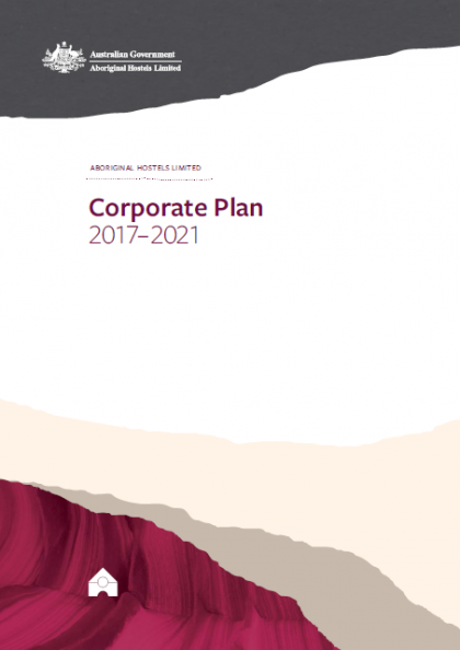 AHL Corporate Plan 2017-2021 publication cover