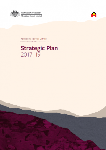 Cover of the 2017-19 Strategic Plan of Aboriginal Hostels Limited